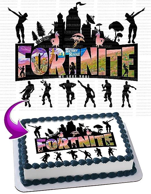 Inkuten Royale Battle Edible Cake Image Cake Topper Icing Sugar