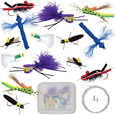 6 Fly Fishing flies spiders ants   # 10 hooks bluegill Panfish Crappie Trout