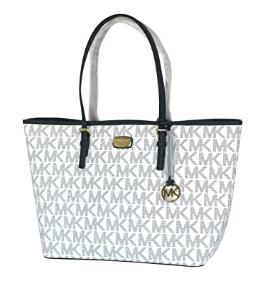 0885204b6099 Amazon.com: Michael Kors Jet Set Large Carryall Tote Navy/White: Clothing