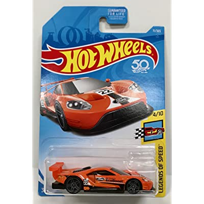 Hot Wheels 2020 50th Anniversary Legends of Speed 2016 Ford GT Race 71/365, Orange: Toys & Games