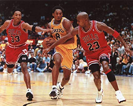 7e96bc4287f Amazon.com : SCOTTIE PIPPEN-MICHAEL JORDAN CHICAGO BULLS-KOBE BRYANT ...
