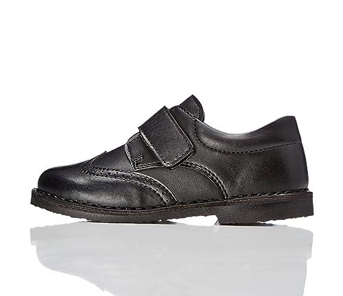 Red Wagon Zapato con Calados y Tira de Velcro para Niño, Negro (Black), 30.5 EU (12 UK)