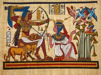 Ancient egyptian pharaoh painting for Egyptian mural paintings