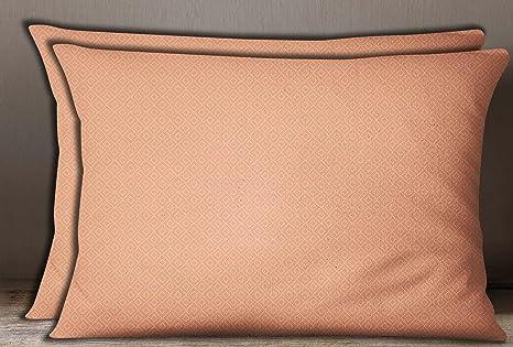 S4Sassy estampado geometrico de algodon de color salmon ...