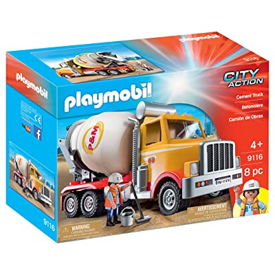 PLAYMOBIL Cement Truck: Toys & Games