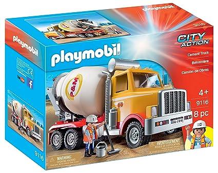 amazon com playmobil cement truck toys games