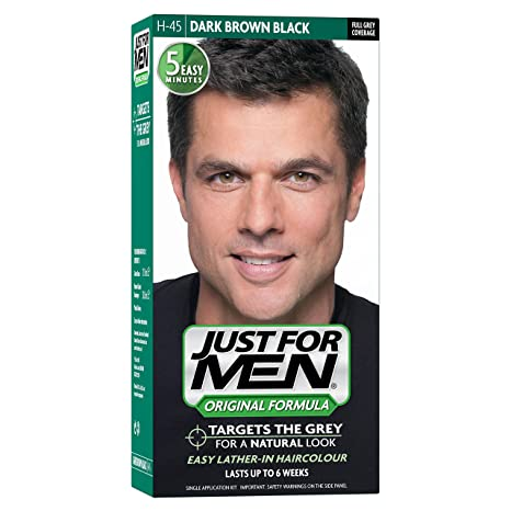 Just For Men Hair Colouring Kit Original Formula, Dark Brown Black ...