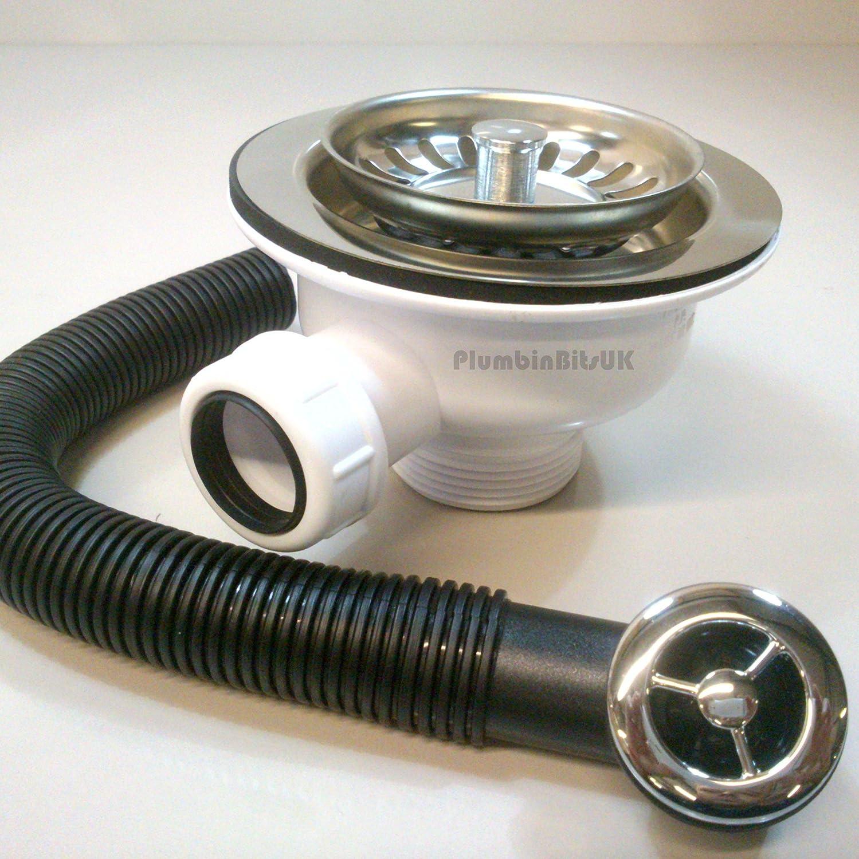 /cromado McAlpine BWSTOFSS 1/1//2-inch cesta colador residuos y rebosadero/