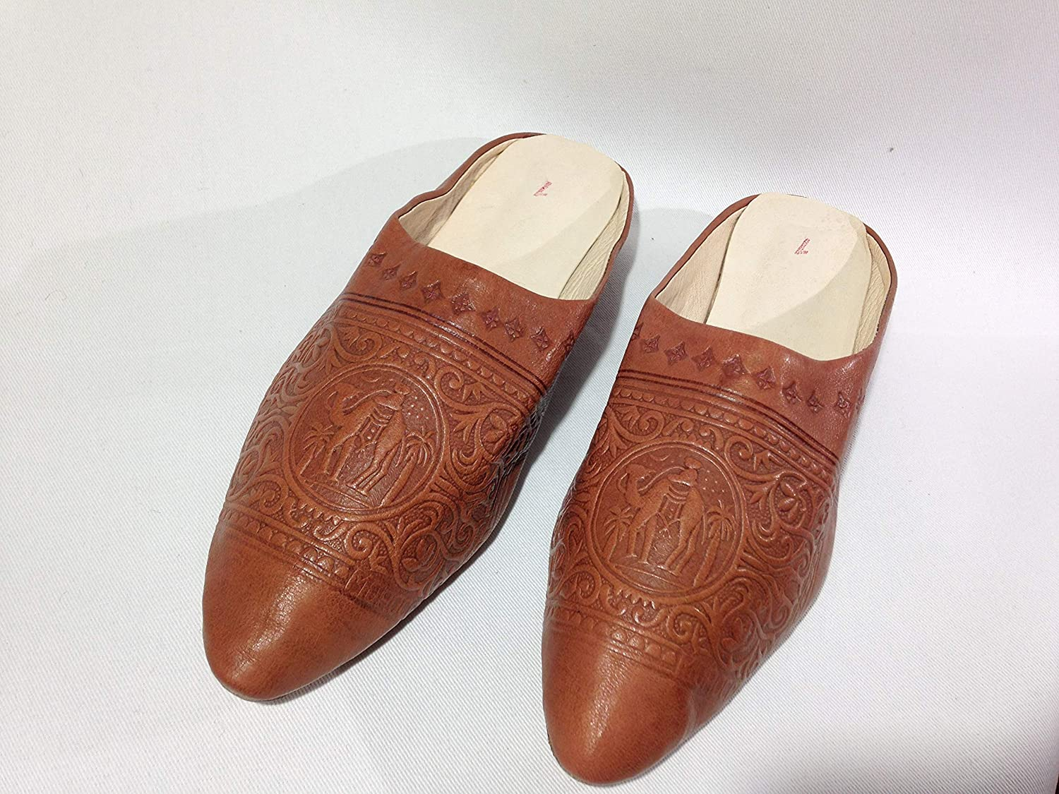1e7df8a899658 Amazon.com: Leather slippers, women's house slippers withe heel ...