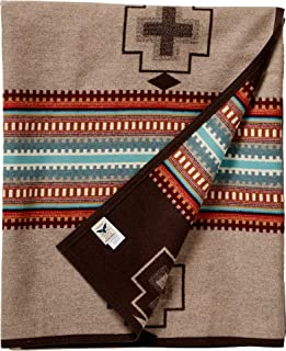 product image for Pendleton Unisex Jacquard Blanket Robe Tan/American West One Size