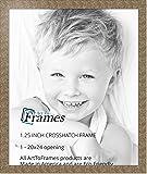 ArtToFrames 20x24 inch Crosshatch Silver Frame