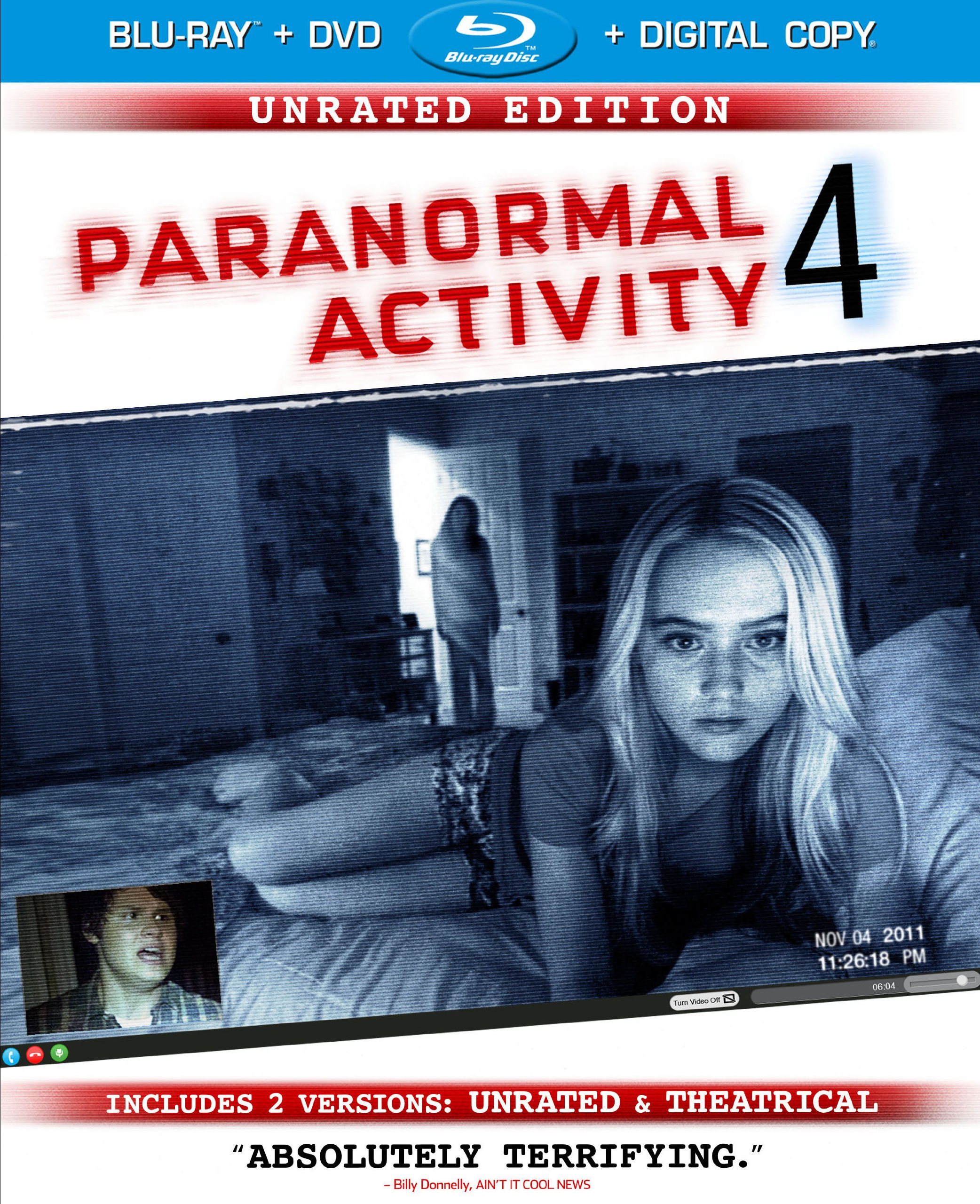 Blu-ray : Paranormal Activity 4 (With DVD, Extended Play, Ultraviolet Digital Copy, Digital Copy, AC-3)