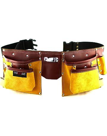 Cinturón porta herramientas de cuero de calidad con 11 bolsillos 82386c767ba4