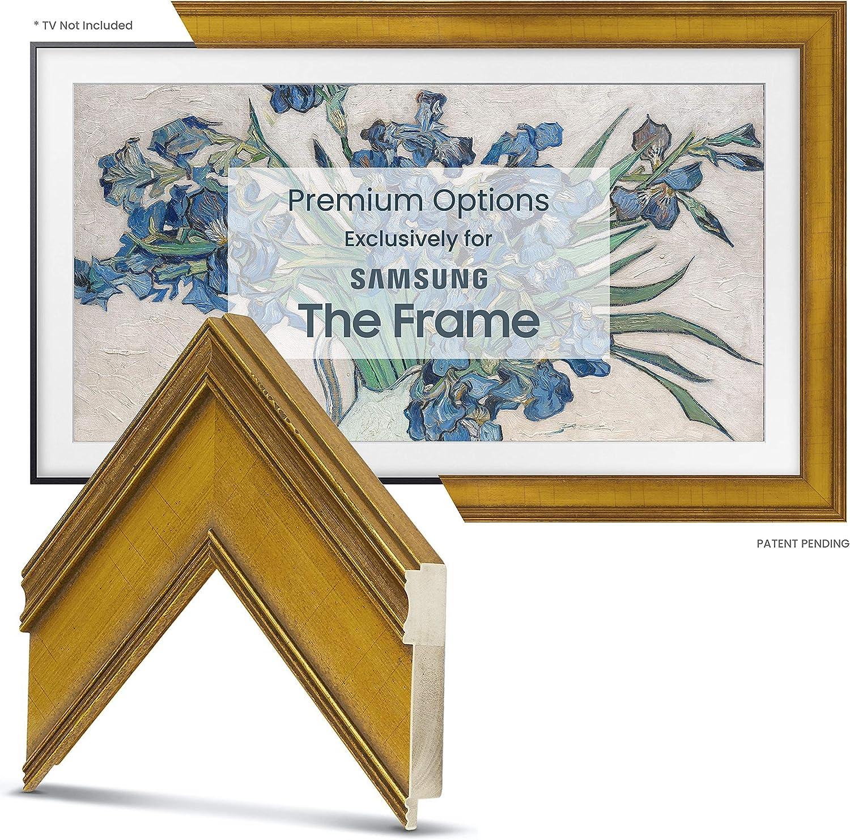 Deco TV Frames - Marco Dorado Antiguo Personalizado para Samsung The Frame TV (65