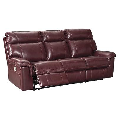 Signature Design by Ashley 5620215 the Duvic Power Reclining Sofa, Crimson