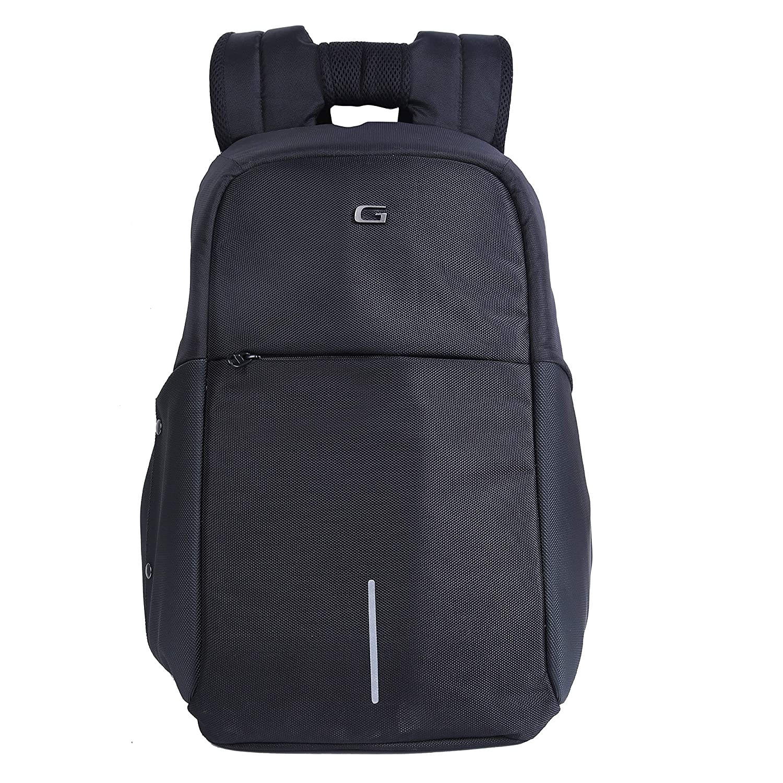 Gear Startup Anti Theft 27 Ltrs Black Laptop Backpack (LBPSPATEF0101)