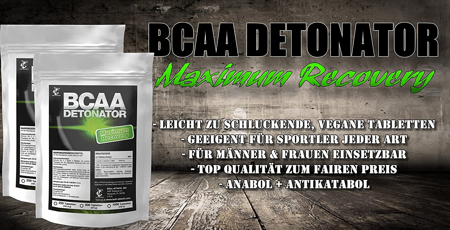 BCAA (500 Tabletten á 2000 mg Portion) | L-Leucin + L-Isoleucin + L ...