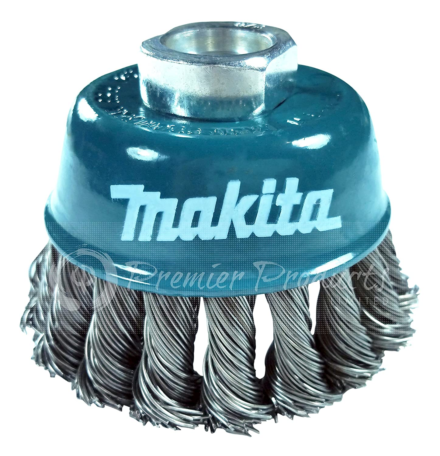 Makita 1 Piece 3 Inch Knotted Wire Cup Brush For Grinders Heavy Duty Conditioning For Metal 3 x 5 8 Inch | 11 UNC
