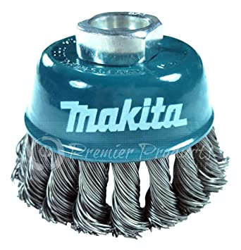 Makita Piece Inch Knotted Wire Cup Brush For Grinders - Vinyl cup brush