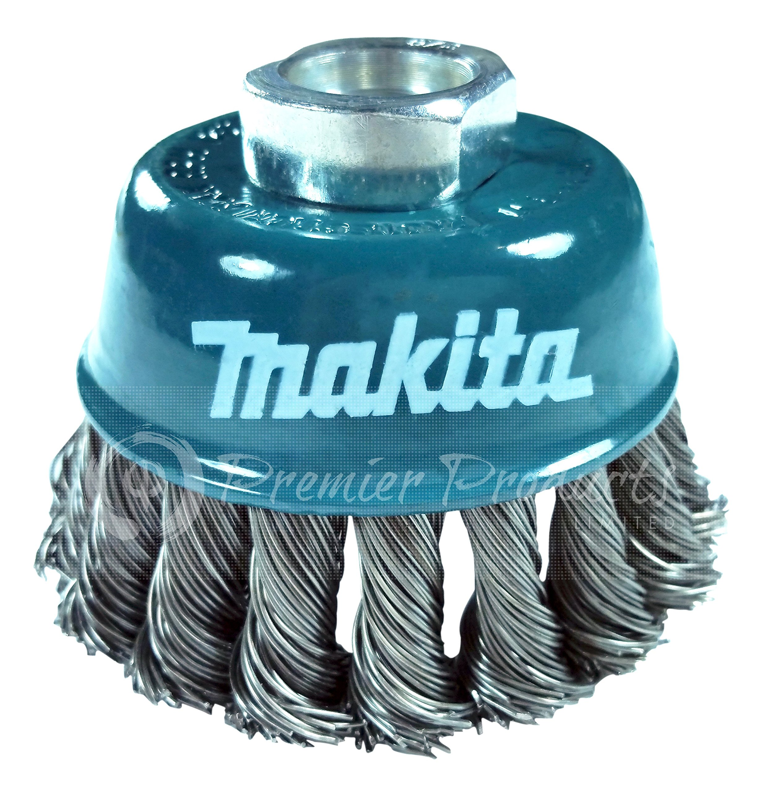Makita 1 Piece - 3 Inch Knotted Wire Cup Brush For Grinders - Heavy-Duty Conditioning For Metal - 3'' x 5/8-Inch | 11 UNC