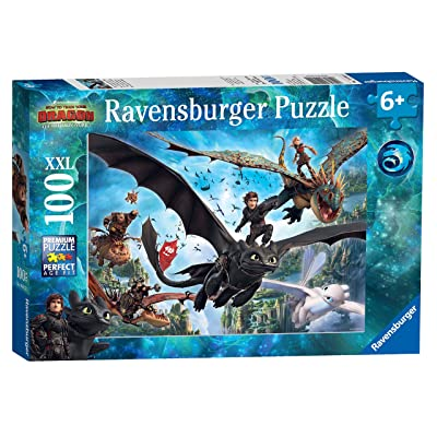 Ravensburger How to Train Your Dragon 3, XXL 100pc Jigsaw Puzzle: Toys & Games