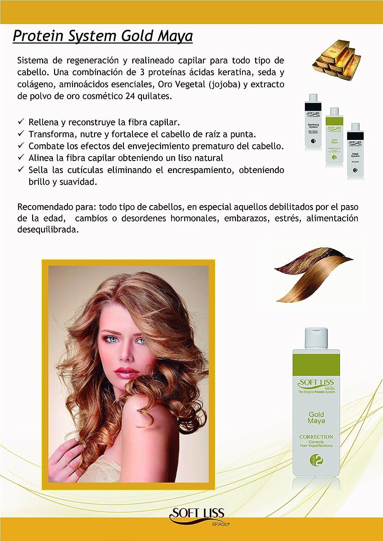 KERATINA TRATAMIENTO ALISADO BRASILEÑO sin formol Oro Maya 118 ml (4 onzas): Amazon.es: Belleza