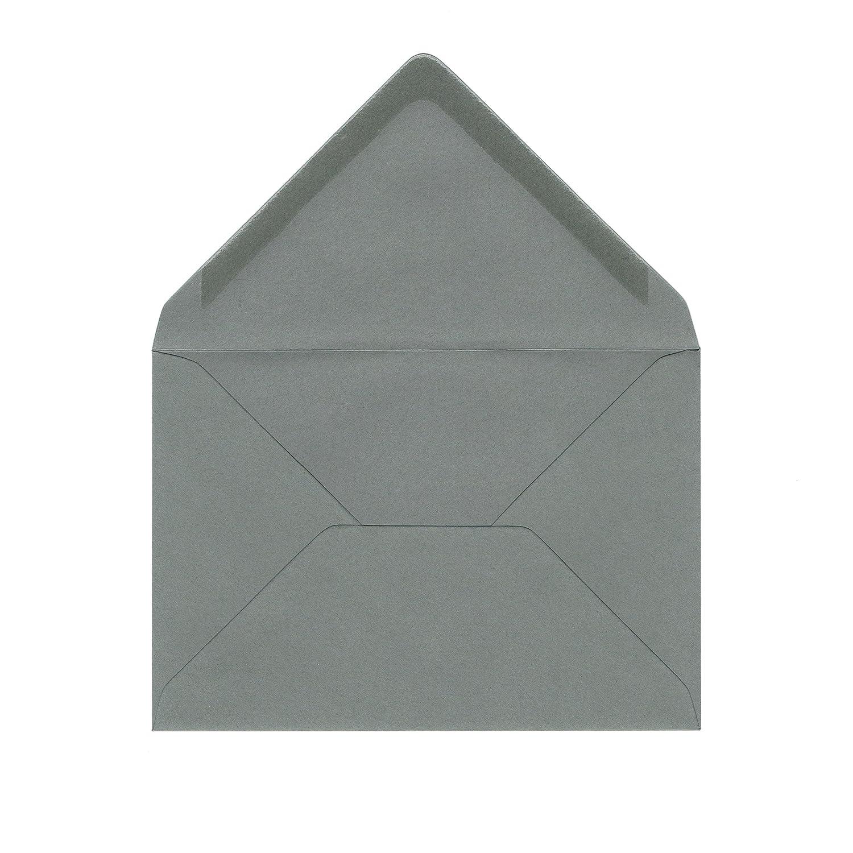 - passend f/ür DIN A6 Karten anthrazit // stone grey, 11,4 x 16,2 cm, DIN C6 25 St/ück Briefumschl/äge