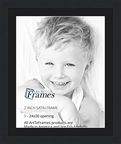 Amazon 24x30 24 X 30 Picture Frame Satin Black 2 Wide