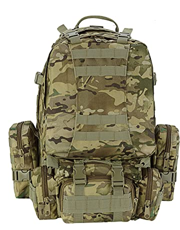 218c4511cbe5 CVLIFE Outdoor 60L Built-up Military Tactical Backpack Army Rucksacks 3 Day  Assault Pack Combat