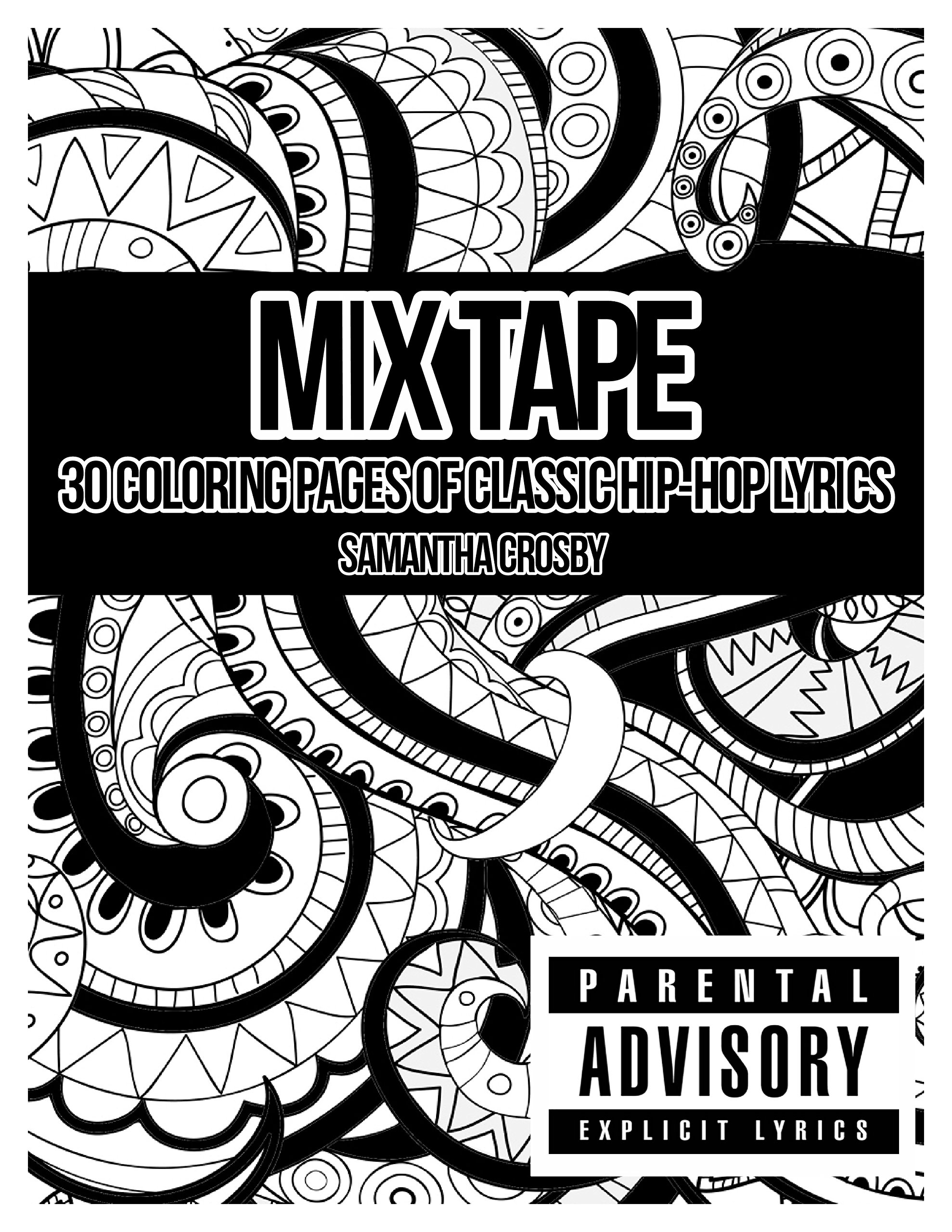 Mix Tape Adult Coloring Book Coloring Page Coloring Book Swear