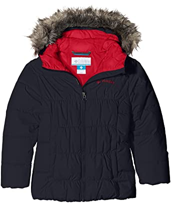 50abd0e074f Columbia Girl's Gyroslope Ski Jacket - Black/Red Camellia, Size - X-Small
