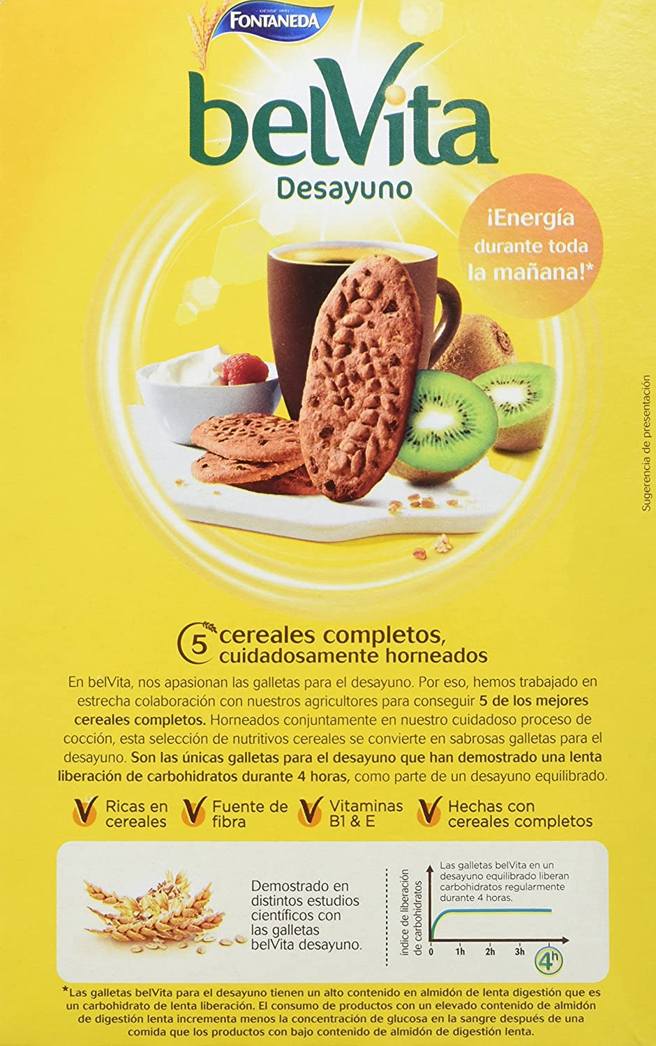 Fontaneda - Belvita - Galletas chocolate con cereales - 400 g - [Pack de 14]