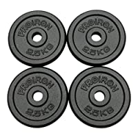 "PROIRON Cast Iron Weight Plates Set 1.25kg,2.5kg,5kg,10kg (Choice of Sizes) for 1"" Dumbbell Handle Bar"