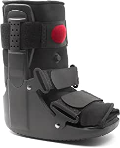 MARS Wellness Premium Short Air Cam Walker Boot - Large - Fracture, Sprained Ankle/Foot Stabilizer - Broken Toe Walking Boots for Men or Women