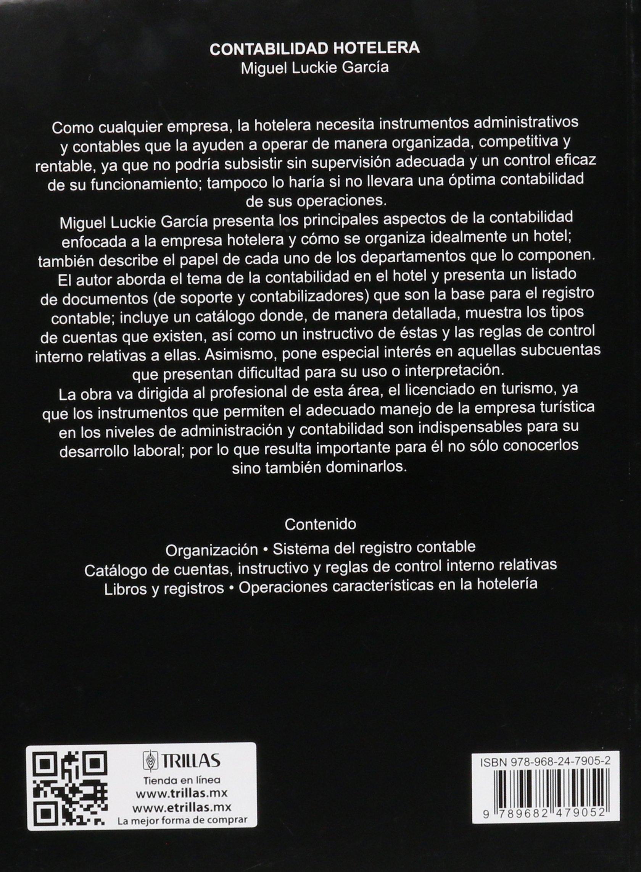 Contabilidad hotelera / Hotel Accounting: Amazon.es: Miguel Luckie ...