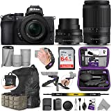 Nikon Z50 Mirrorless Digital Camera with 16-50mm and 50-250mm Lenses with Altura Photo Advanced Accessory and Travel Bundle