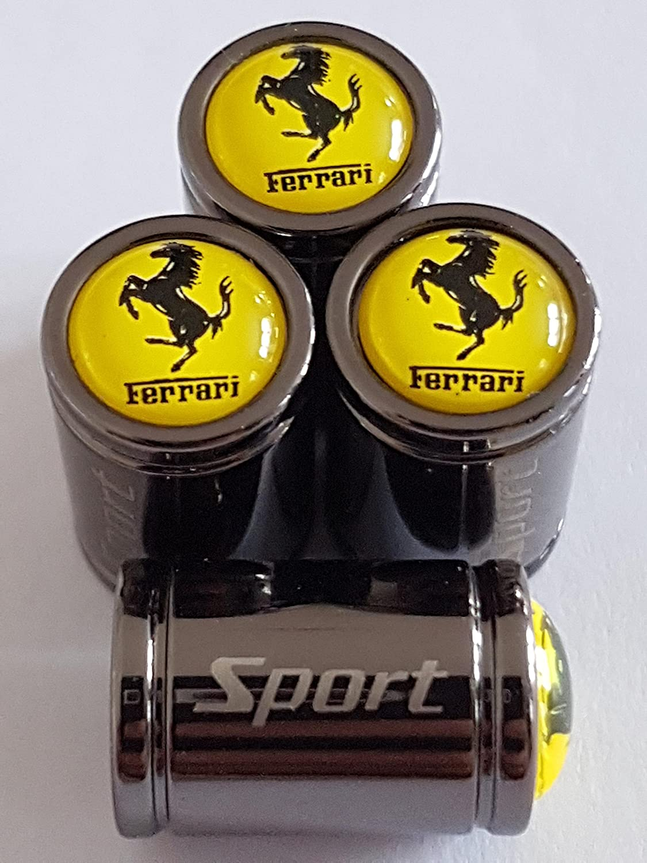 Speed Demon Beste Qualit/ät FERRARI Sport Titanium Deluxe Legierung Staub Ventilkappen