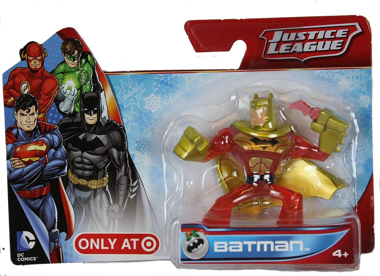 Justice League Mini Batman Figure Exclusive Red and Gold Paint Target BCJ68