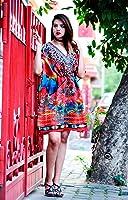 Hastkala Women's Kaftan Short Ethnic Dress Bohemian Swim Suit Hippie