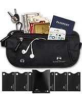 Alpine Rivers Money Belt - RFID Blocking Hidden Travel Wallet + 7 Bonus Sleeves