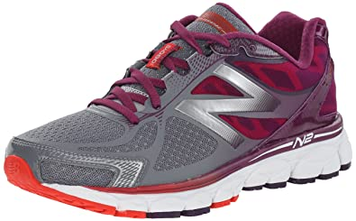 New Balance Womens W1080V5 Neutral Run Shoe-W, Grey/Purple, ...