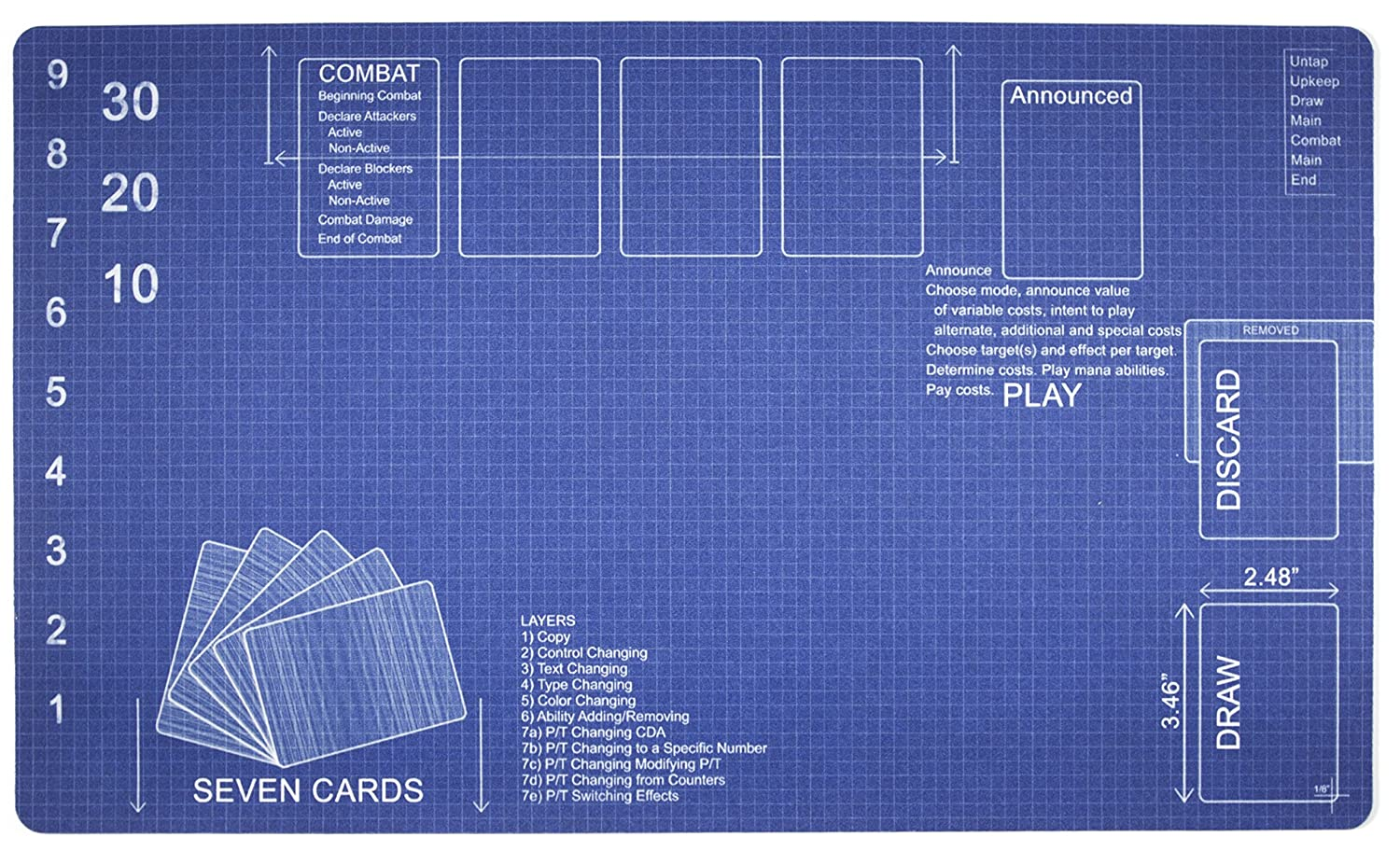 Blueprint playmat by inked gaming perfect for mtg gaming mtg blueprint playmat by inked gaming perfect for mtg gaming mtg playmat your game malvernweather Images