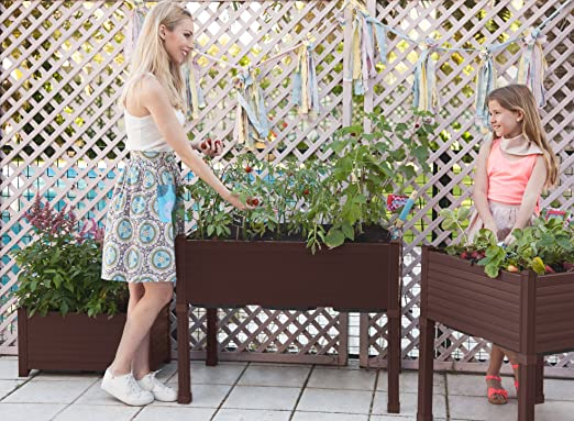 Huerto urbano GREENLAND 90x60x75 cm. Para terraza/jardín. Color ...