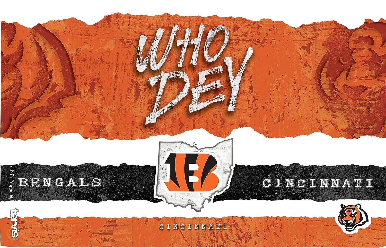 Tervis 1251828 NFL Cincinnati Bengals NFL Statement Tumbler with Wrap and Black Lid 16oz Clear