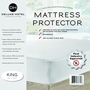 Ultimate Bed Bug Blocker Zippered Waterproof Mattress Protector - 10 YEAR WARRANTY! (King)