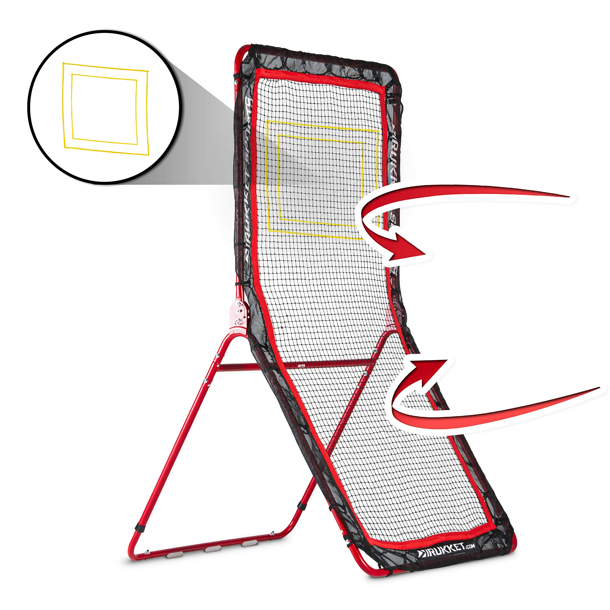 Rukket 4x7ft Lacrosse Rebounder Pitchback Training Screen | Practice Catching, Throwing, and Shooting by Rukket Sports