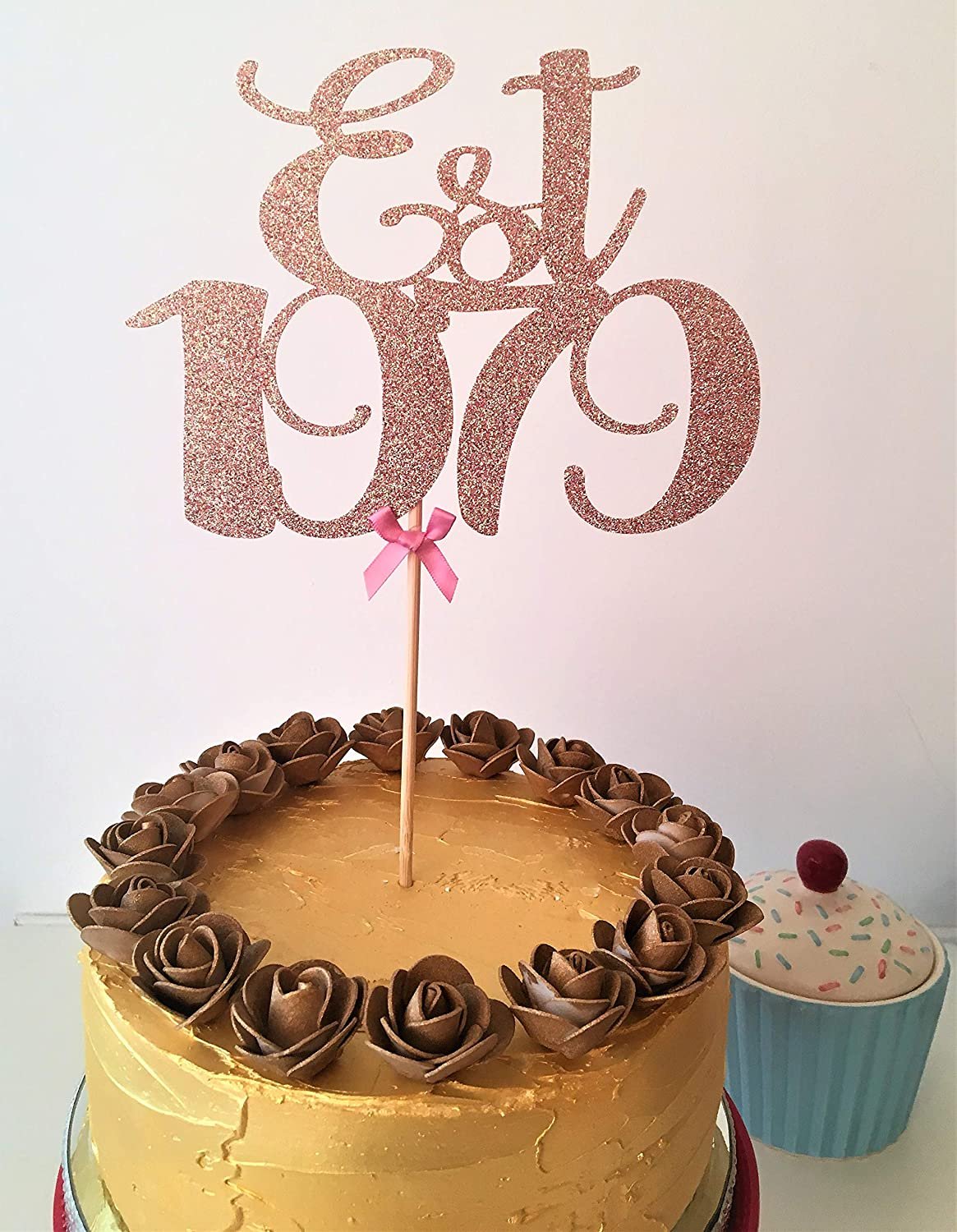 Fine Est 1979 Cake Topper Established Cake Centrepiece 40Th Birthday Funny Birthday Cards Online Elaedamsfinfo
