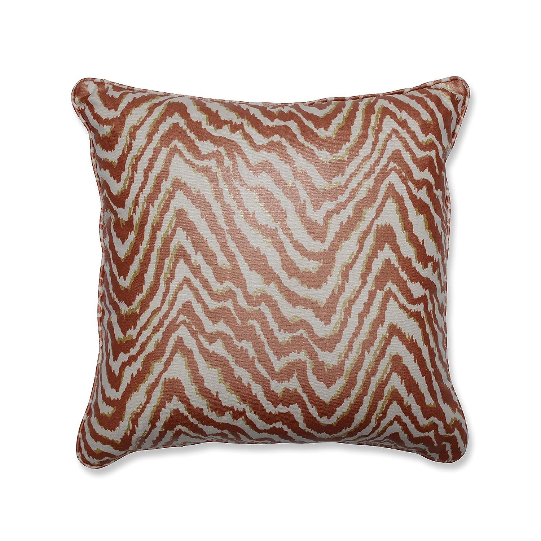 Pillow Perfect Indoor Sleek Spice 18-inch Throw Pillow Orange