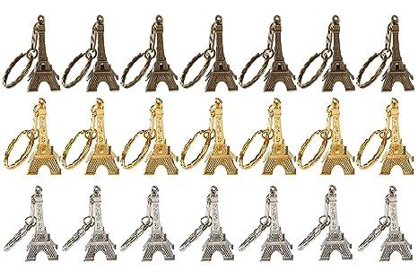 Amazon.com: Llavero con diseño de la torre Eiffel francesa ...