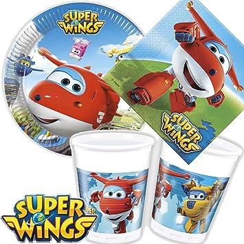 Juego de 36 * Super Wings * Party Juego de platos + vasos + ...